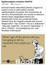 Ügyfélszolgálati telefonos munkatárs