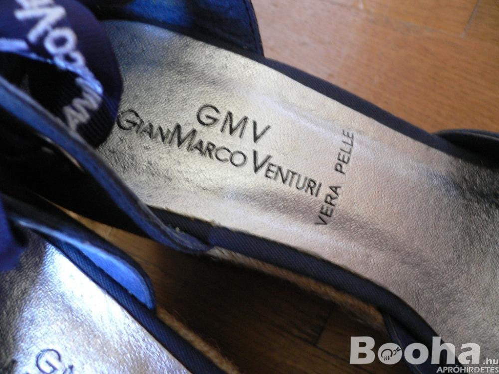 Gian Marco Venturi - Női szandál sötétkék matróz stílus