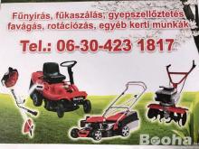 Fűkaszálás ,fűnyírás ,gazvágás és favágás és kerti munkák