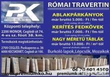 Prémium minőségű Római Travertin
