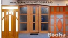 Egyedi Fa ajtók ablakok méretre gyártása!