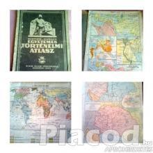 2 db régi iskolai atlasz