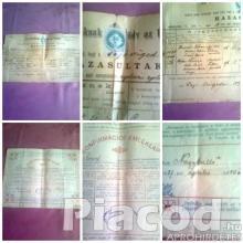 Régi okmányok,dokumentumok,papírrégiségek....