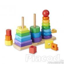 M&D, FA készségfejlesztő játék, montessori torony