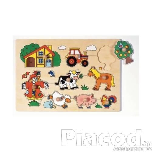 Fogós puzzle, tanya, 9 db-os GK57995 GOKI, 1+
