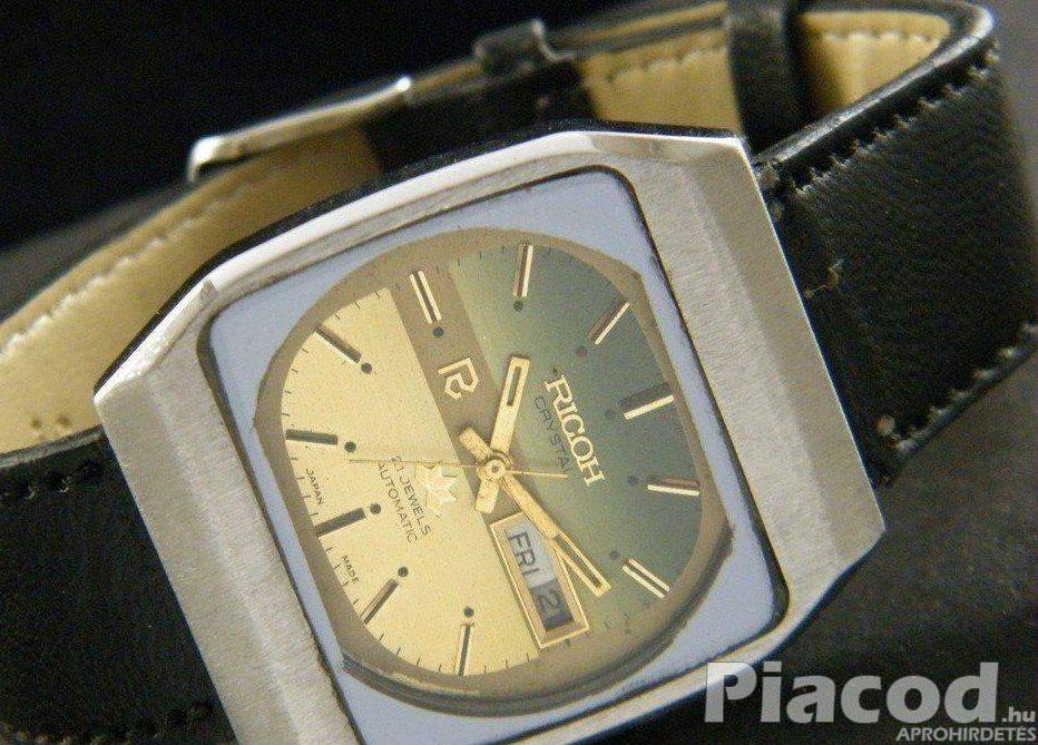 Ricoh férfi automata R31 model karóra dátum napok arany színű számlap - FoxPost 600!