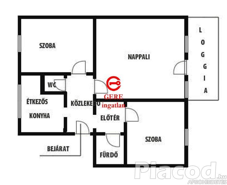 Remek nagy teraszos tégla lakás + garázs eladó Vác - Deákváron a Garam utcában.