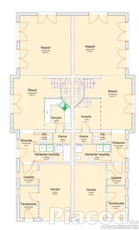 Legyen Önnek remek egyedi tervezésű ikerházi ingatlana Sződ új építésű részén.
