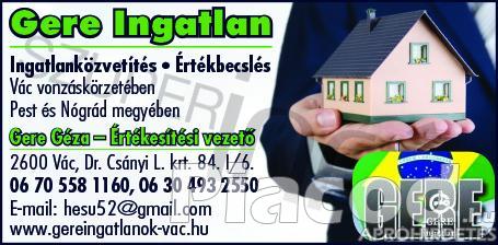 Eladó 1620 m2-es belterületi építési telek  Vác-Deákváron.