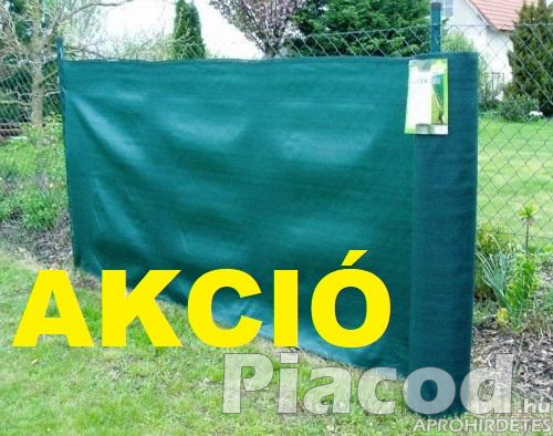 AKCIÓ Árnyékoló háló SUPERTEX260 1,5x10m zöld 99%