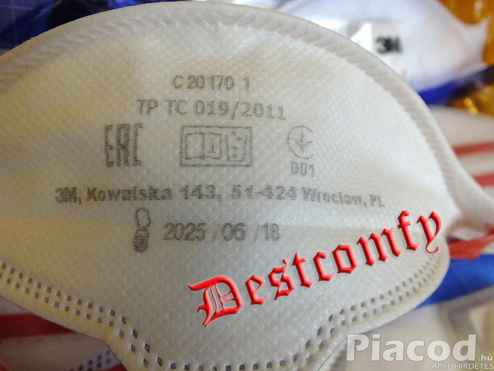 3M 9332+ AURA FFP3 3 részecskeszűrős szelepes védőmaszk raktáron! EU-ban gyártott (lengyel)!!!