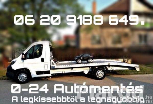 0-24 Autómentés Autószállítás Furgonmentés Budapest XIII. Kerület.