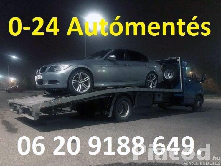 0-24 Autómentés Autószállítás Furgonmentés Budapest XX. Kerület.