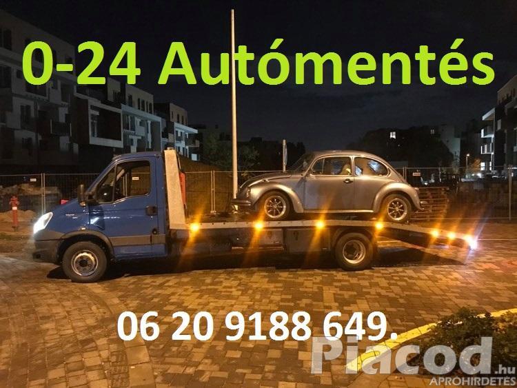 0-24 Autómentés Autómentő Furgonmentés Kóspallag Kisoroszi Nógrád