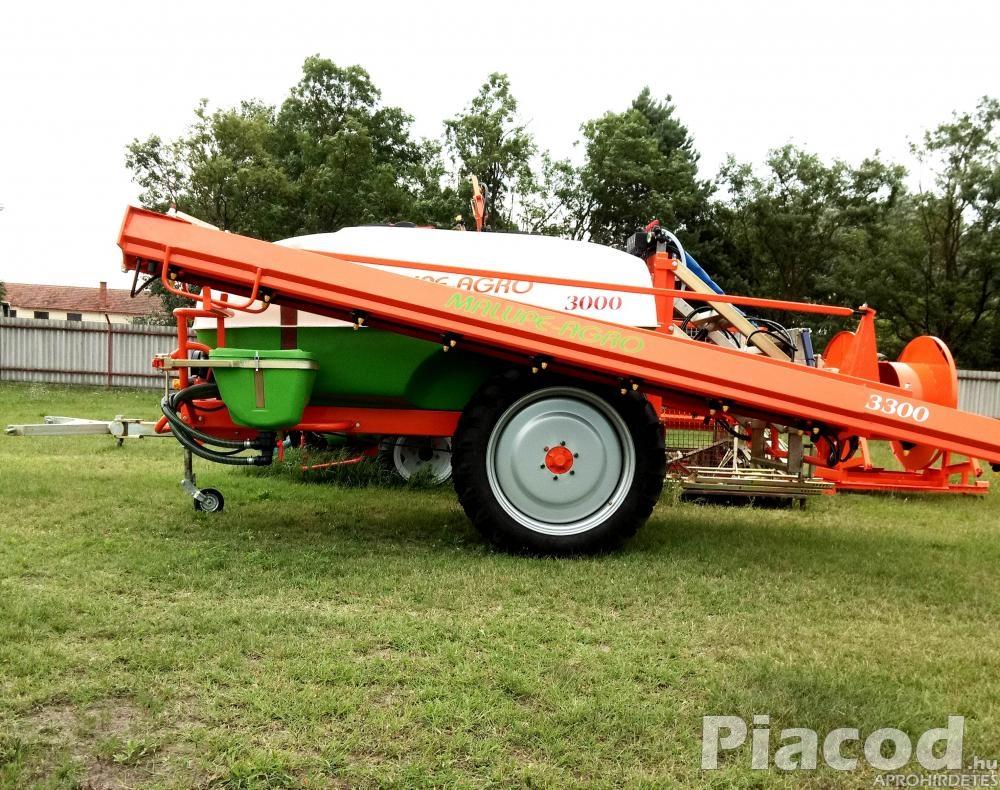Malupe Agro 3300L 24M Traktor Vontatott Szántóföldi Permetező, Vegyszerező