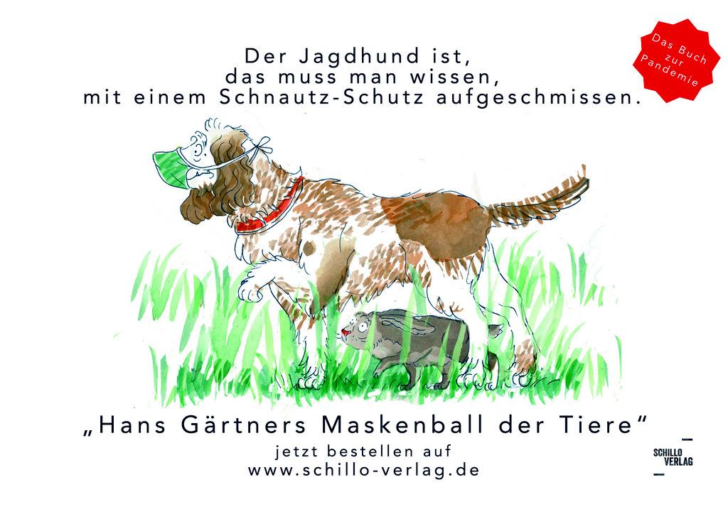 """Das Buch zur Pandemie """"Hans Gärtners Maskenball der Tiere """""""