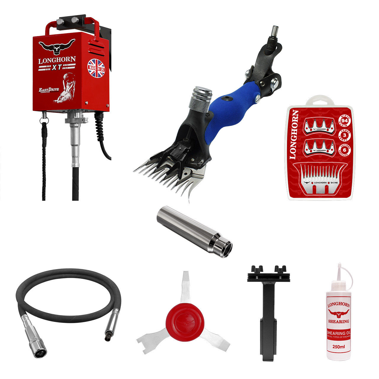 Longhorn® XT PIN Kit inkl. Antrieb, Welle, Handstück, uvm.