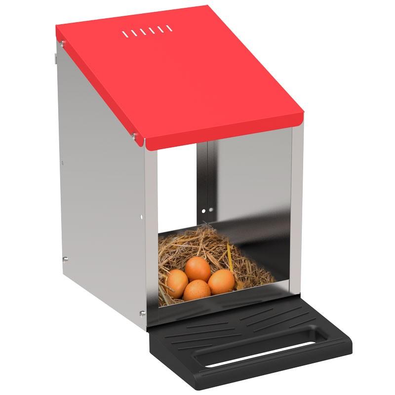 """Legenest """"Tiger"""" für Hühner aus Metall - Abrollnest zum Hängen oder Stellen, 1 Abteilung, Eierfach"""