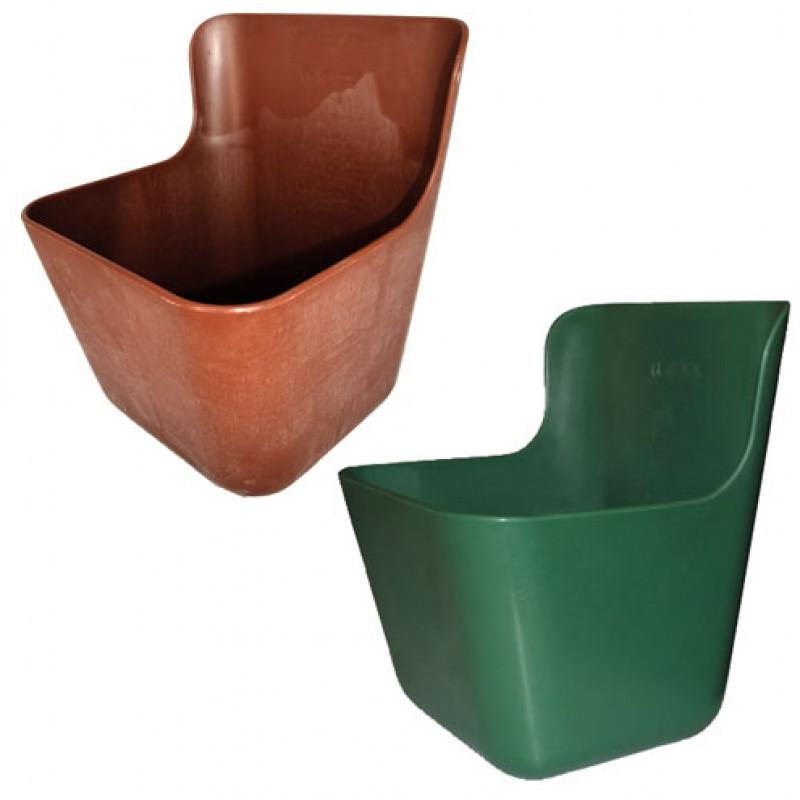Kunststoff Futtertrog11,5 Liter grün