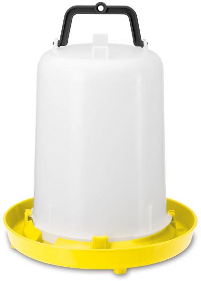 Siphon Geflügeltränke 15 Liter aus Polypropylen mit Henkel