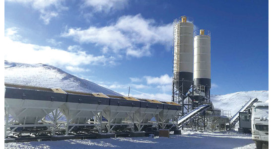XCMG Constructs Stabilized Soil Mixing Plant XC800S in 7 Days on Qinghai-Tibet Plateau