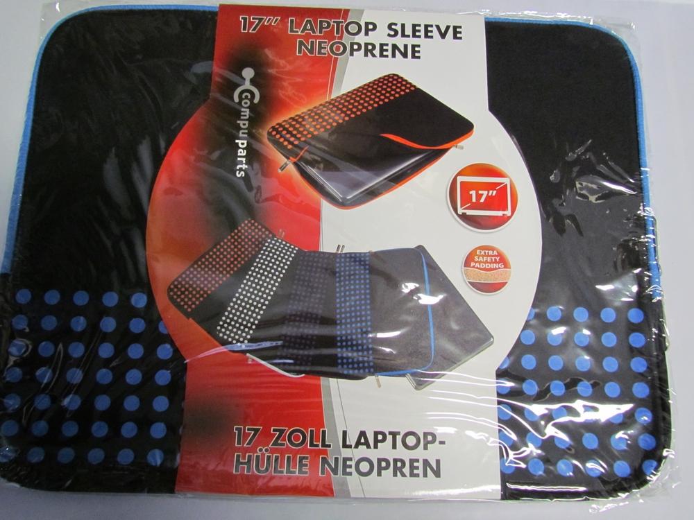 17'' neoprene laptop sleeve / hoes (blauw) - afbeelding 1