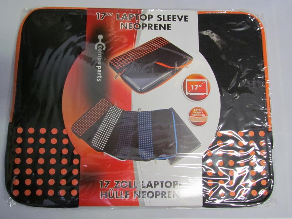 17'' neoprene laptop sleeve / hoes (oranje) - afbeelding 1