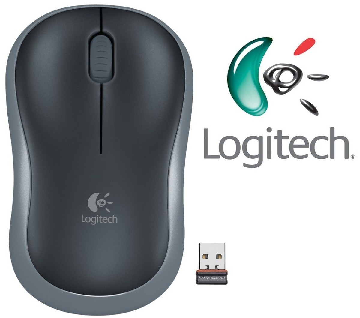 Logitech Wireless Mouse M185 (grijs) - afbeelding 1