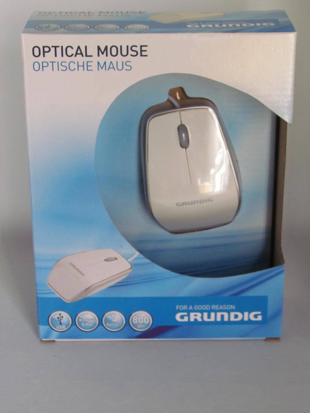 Grundig optische muis (wit) - afbeelding 1