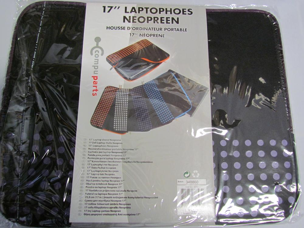 17'' neoprene laptop sleeve / hoes (paars) - afbeelding 2