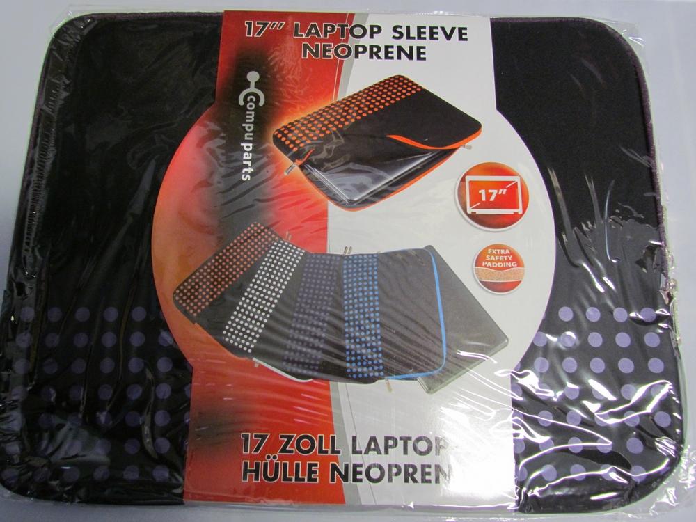 17'' neoprene laptop sleeve / hoes (paars) - afbeelding 1