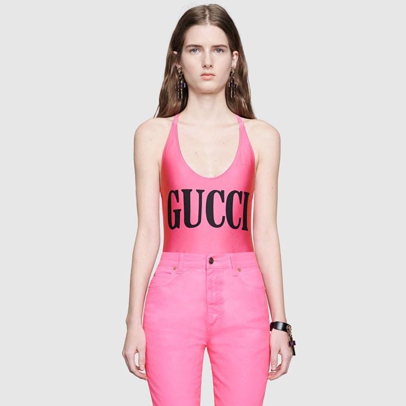 94c7de63eea Sparkling swimsuit with Gucci print   Brandoo