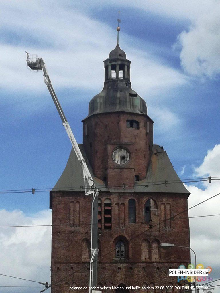 Brand der Kathedrale in Landsberg an der Warthe