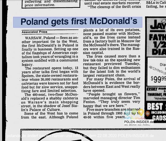 Ein Hamburger für 17 Tausend Złoty…