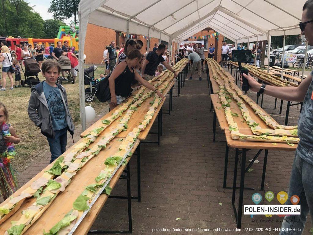 Das längste Sandwich Polens kommt aus Kunowice!