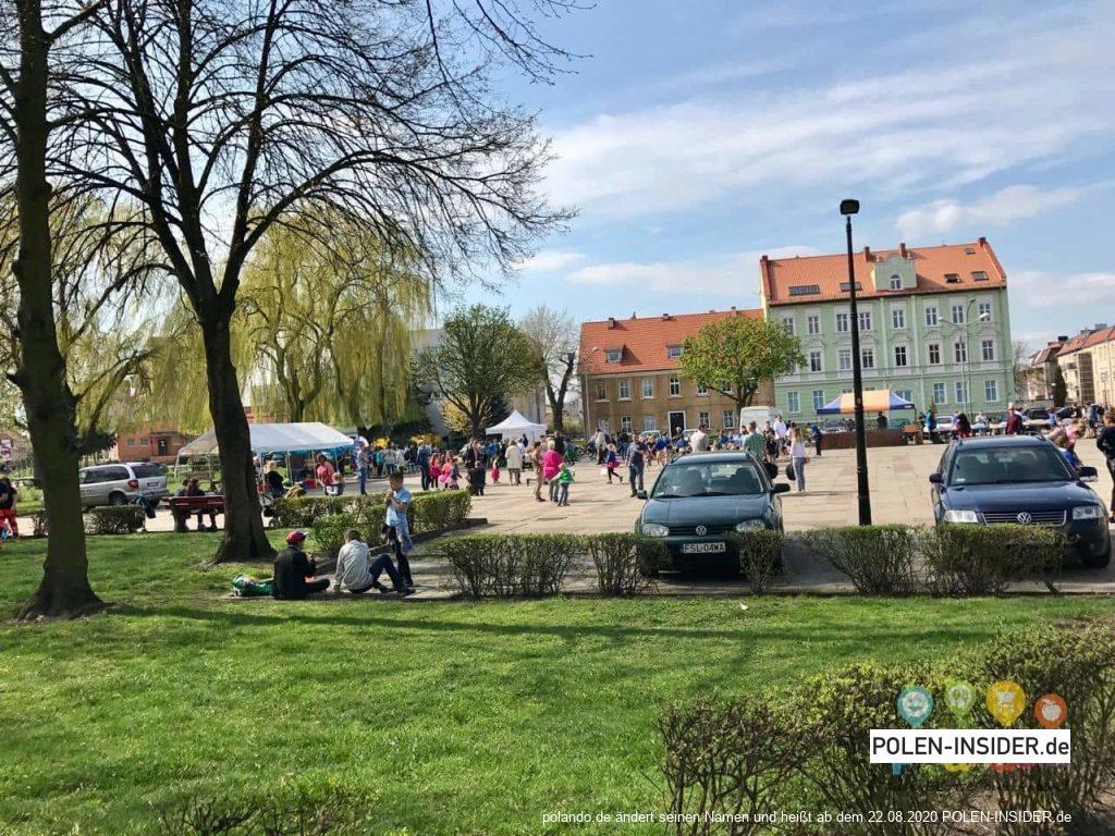 Plac Bohaterów in Słubice (Heldenplatz)