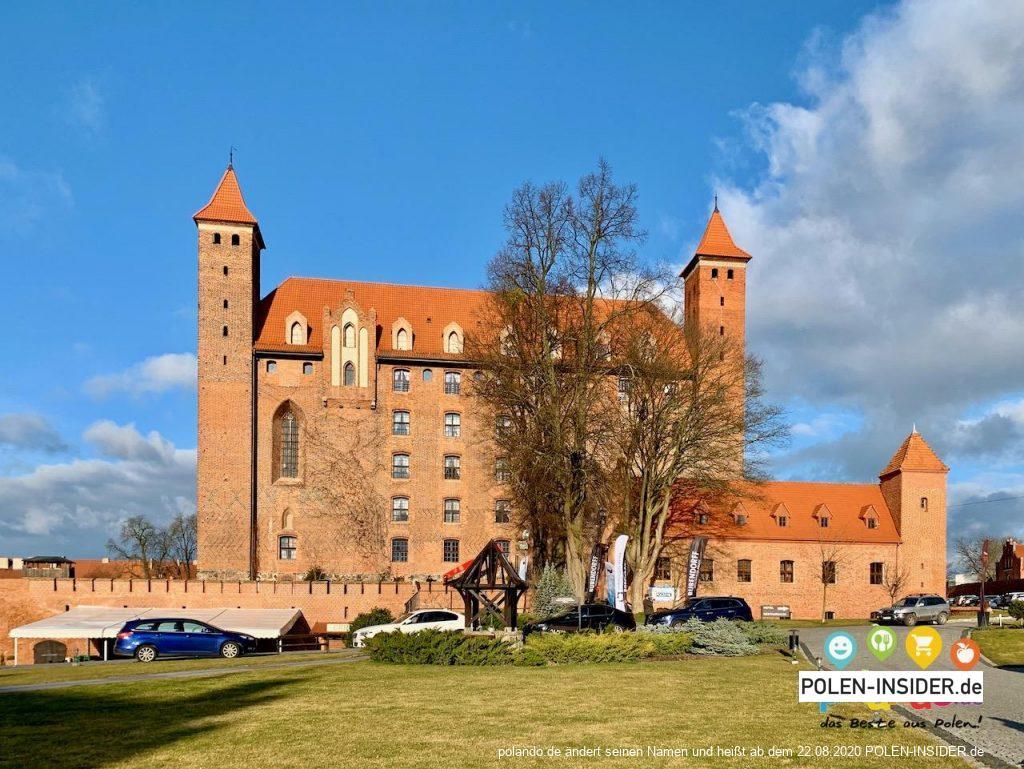 Die mächtige Hochburg der Kreuzritter in Gniew (Polen)