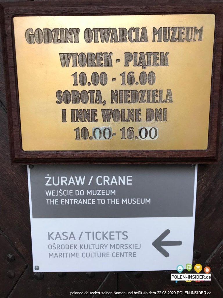 Das Krantor in Gdańsk (Danzig) – der größte Kran dieser Art in Europa