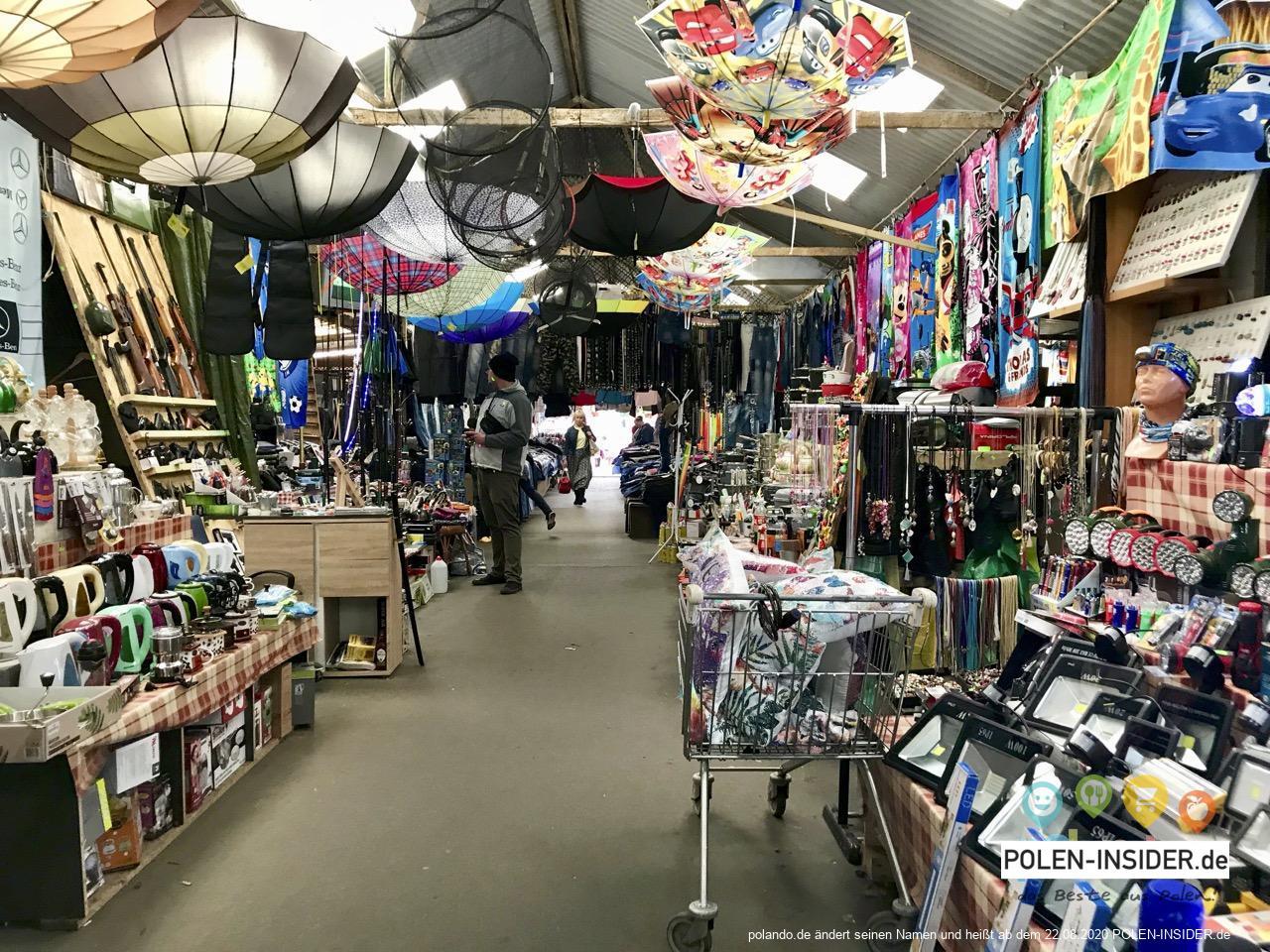Polenmarkt Slubice - Der große Basar. Einkaufen in Polen