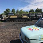 Kolberg: mit einem Panzer unterwegs