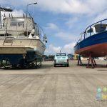 Der Fischer- und Yachthafen in Kolberg