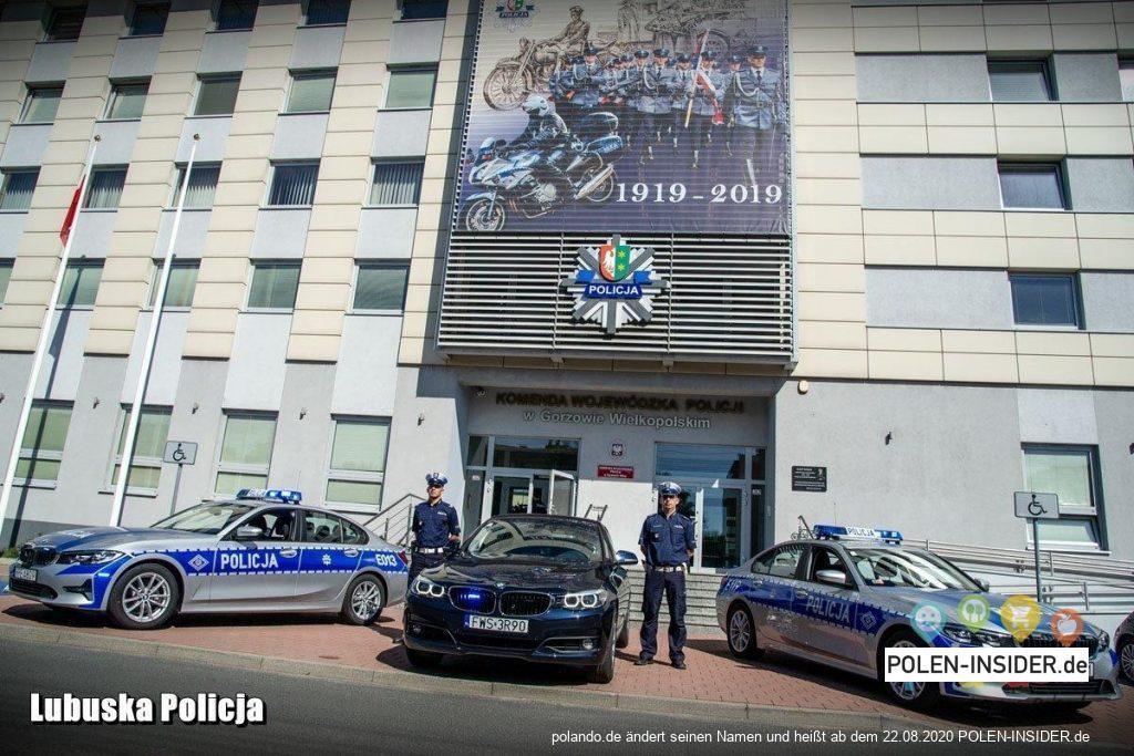 Superschnelle Polizeiautos bei der polnischen Polizei