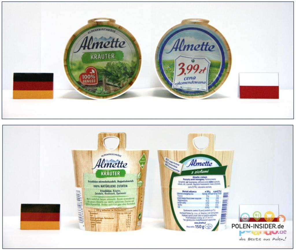 Vergleich der Qualität der Produkte in Polen und Deutschland