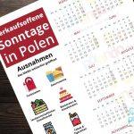 Einkaufen in Polen: Sonntags-Shopping mit unserem Kalender leicht gemacht