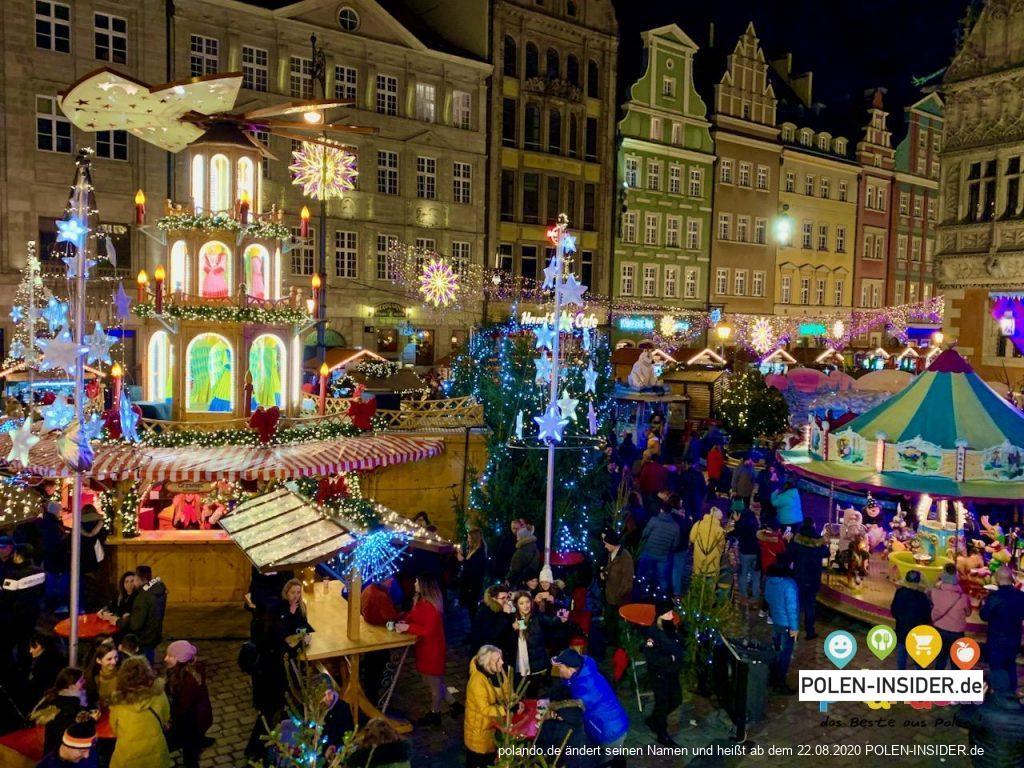 Weihnachtsmarkt in Wrocław (Breslau)