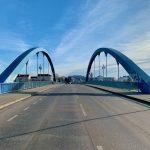 Feierliches Treffen auf der Stadtbrücke in Frankfurt (Oder) und Słubice