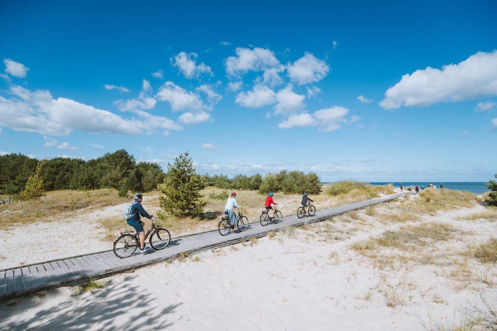 Neue Radwanderwege an der polnischen Ostsee