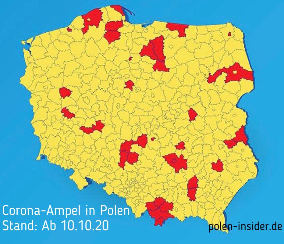 Neue Einschränkungen im Zusammenhang mit Coronavirus in Polen