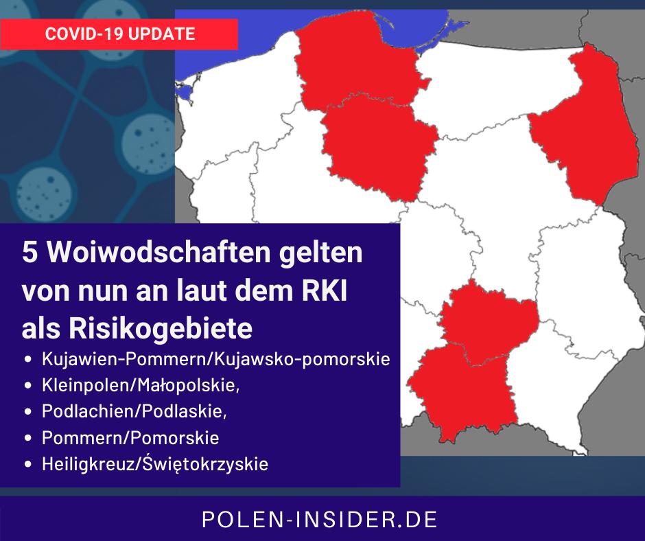 Rote und gelbe Zonen in polnischen Grenzstädten.