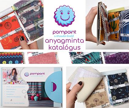 Pompoint textil méteráru webáruház textil mintacsomagja egyedi textil szublimálással